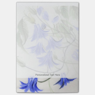 Blue Flowers Post-it Notes