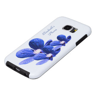 Blue Flowers Samsung Galaxy S6 Cases