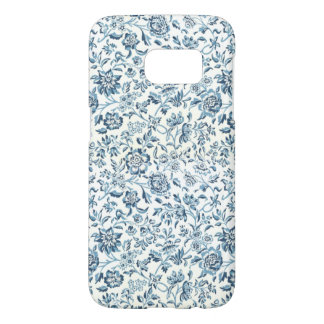 Blue Flowers Samsung Galaxy S7 Barely There Case