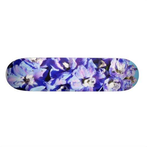 Blue Flowers Skateboard Decks
