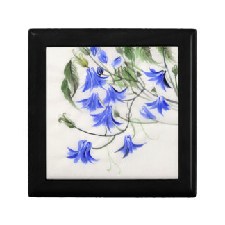 Blue Flowers Small Square Gift Box