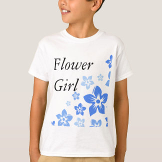 blue flowers tee shirts