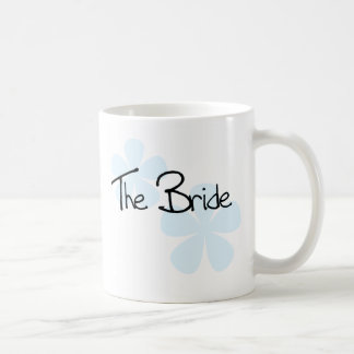 Blue Flowers The Bride Coffee Mug