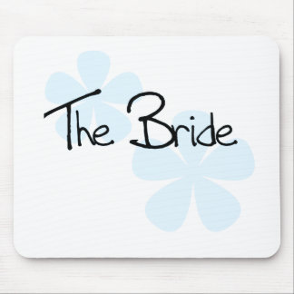 Blue Flowers The Bride Mouse Pad