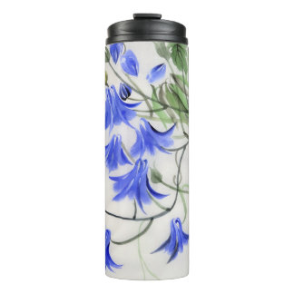 Blue Flowers Thermal Tumbler