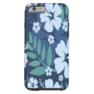 Blue Flowers Tough iPhone 6 Case