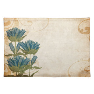 Blue Flowers Vintage Wedding Placemat