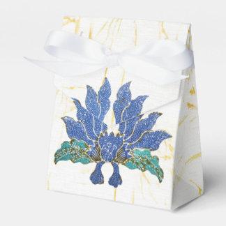 Blue Flowers Wedding Favour Boxes
