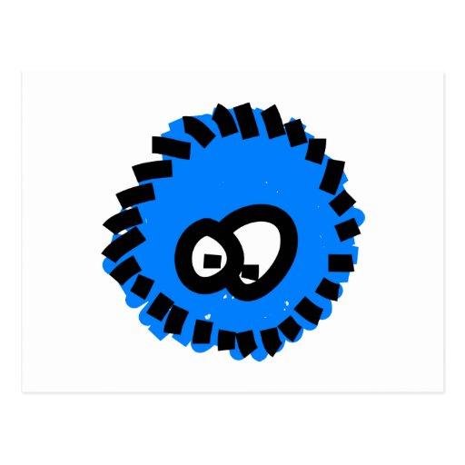 Blue Fluffy Germ Post Cards