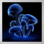 Blue Fluorescence (Square) Print
