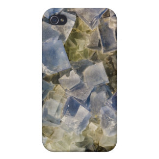 Blue Fluorite Crystals in Matrix Case For iPhone 4