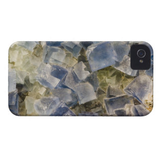 Blue Fluorite Crystals in Matrix iPhone 4 Case-Mate Case