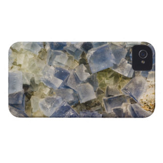 Blue Fluorite Crystals in Matrix iPhone 4 Case-Mate Cases