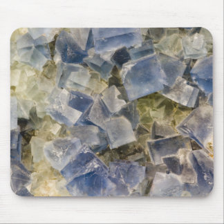 Blue Fluorite Crystals in Matrix Mouse Mat