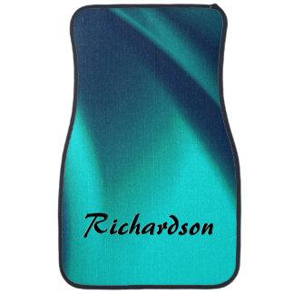 Blue Flush Monogram Car Mat