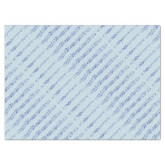 Blue Flute Line Drawing Tissue Paper