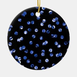 Blue Foil Confetti Christmas Ornament