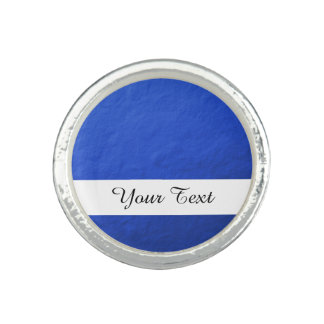 Blue Foil Printed Photo Rings