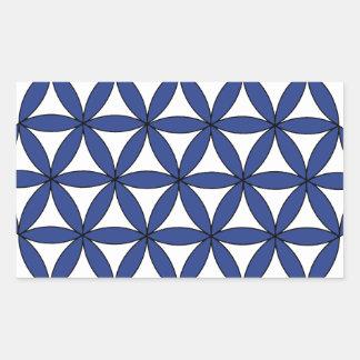 Blue FOL Rectangular Sticker