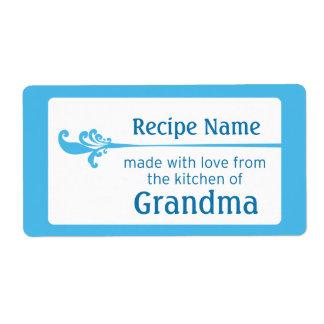 Blue Food Label