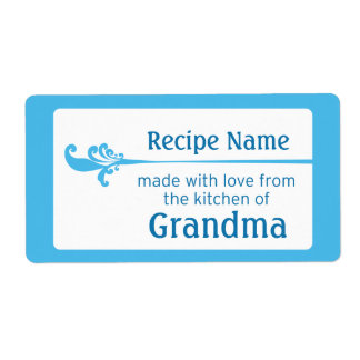 Blue Food Label Shipping Label