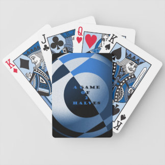 Blue Football Art - A Game of 2 Halves Bicycle Playing Cards