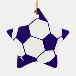 Blue Football Design Christmas Ornament