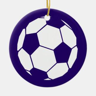 Blue Football Design Round Ceramic Decoration
