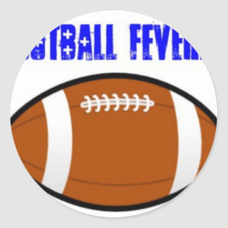 Blue Football Design Round Stickers