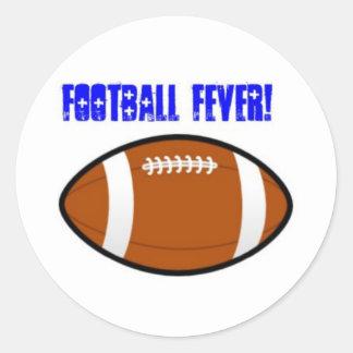 Blue Football Design Sticker