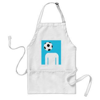 Blue football head design standard apron