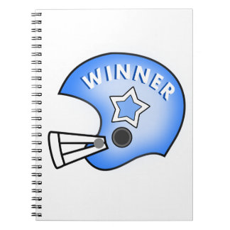 blue football helmet image with star notebook