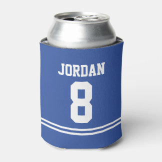 Blue Football Jersey - Sports Theme Birthday Party Can Cooler
