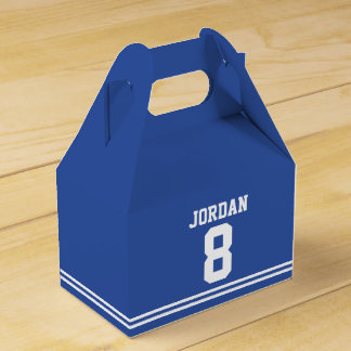 Blue Football Jersey - Sports Theme Birthday Party Favour Boxes