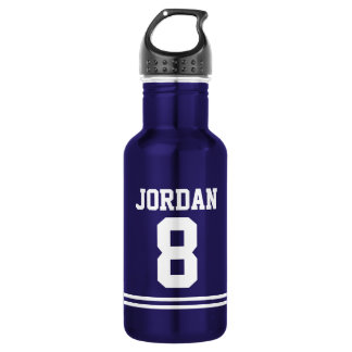 Blue Football Jersey with Custom Name and Number 532 Ml Water Bottle