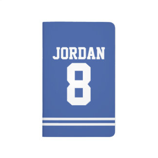 Blue Football Jersey with Custom Name and Number Journal