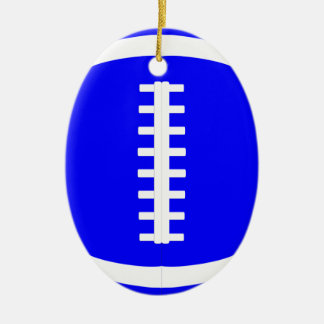 Blue Football Player or Coach Christmas Ornament