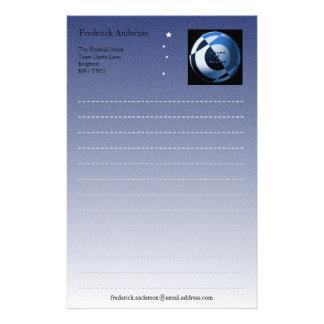 Blue Football Writing Paper