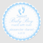 Blue Footprints-Baby Shower