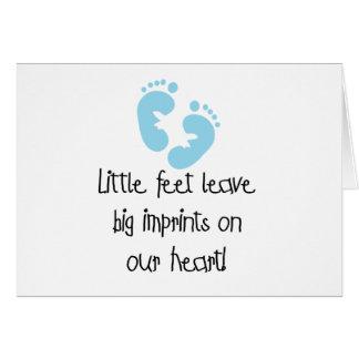 Blue Footprints Little Feet Big Imprints Greeting Card