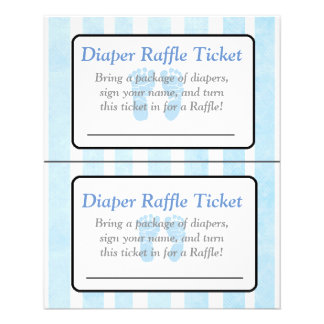 Blue Footprints Themed baby shower games Flyer