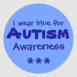Blue for Autism Classic Round Sticker