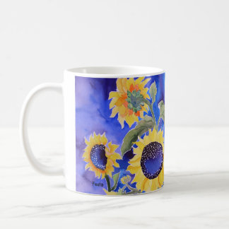 Blue for you Sunflowers Coffee Mug