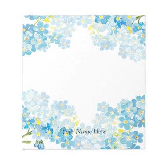 Blue Forget Me Nots Myosotis Notepads