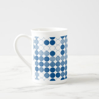 Blue - Four In A Row Tea Cup