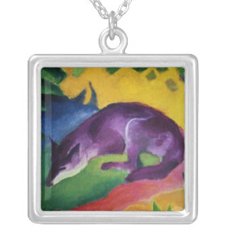 Blue Fox, 1911 Silver Plated Necklace