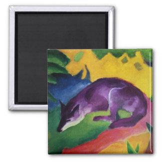 Blue Fox, 1911 Square Magnet