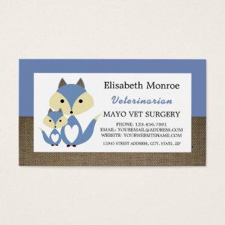 Blue Fox Burlap, Veterinarian, Veterinary Business Card
