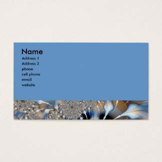 blue fractal business card