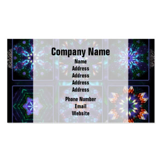 Blue Fractal Collage Business Card Template